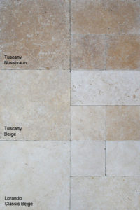 Unterschiede Travertine Tuscany